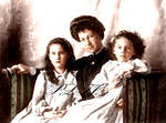 Grand Duchess Marie Georgievna with her daughters  by Linnea-Rose