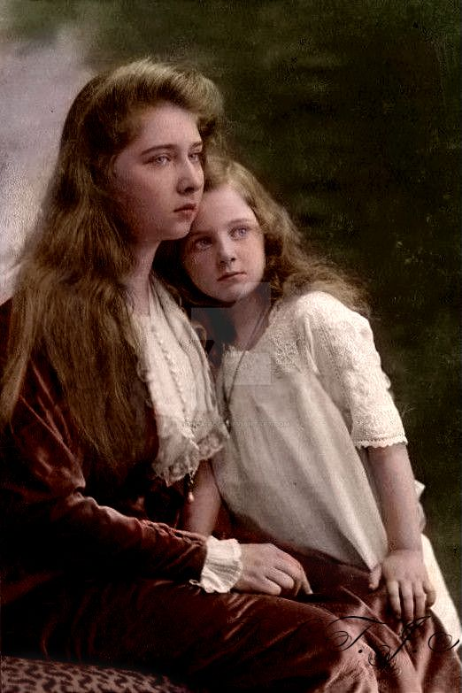 Two Princesses in 1913 by Linnea-Rose