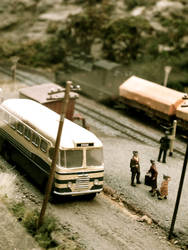 Bus Station Miniature