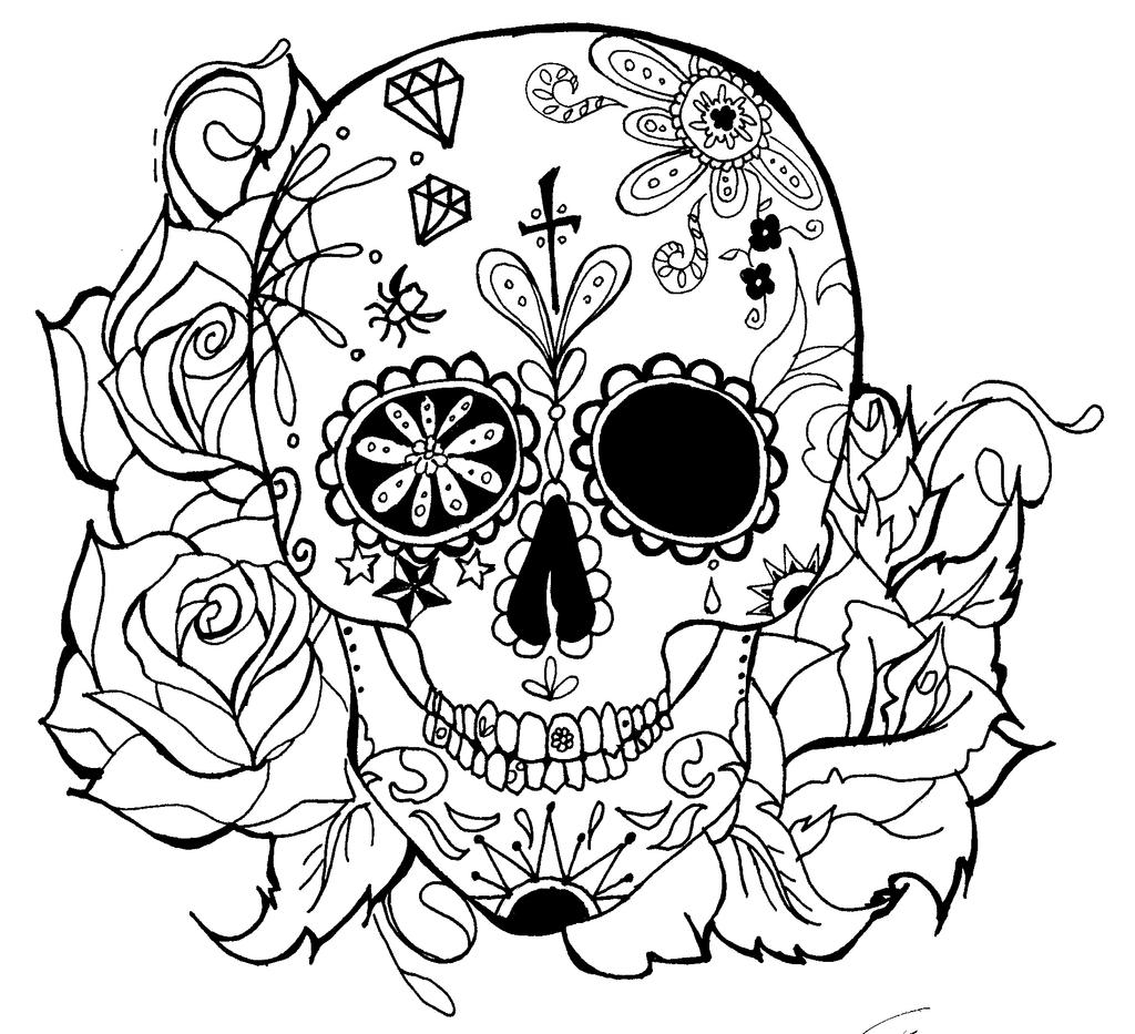 sugar skull designs coloring pages - photo#16