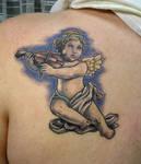 cherub with aa violin