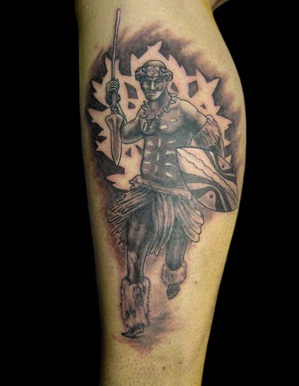 Shaka zulu tat  Zulu Warrior Tattoo