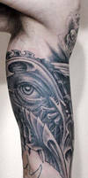 biomech eye tattoo