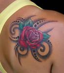 rose on skin