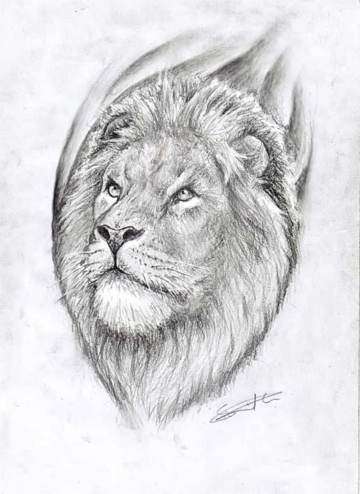 Lion Khanda Tattoo Design