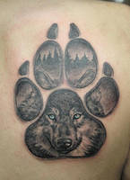 woolf paw tattoo by primitive-art