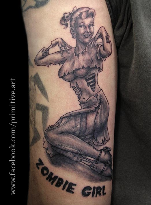 Zombie Little Girl Tattoo Zombie Girl Tattoos Fo...