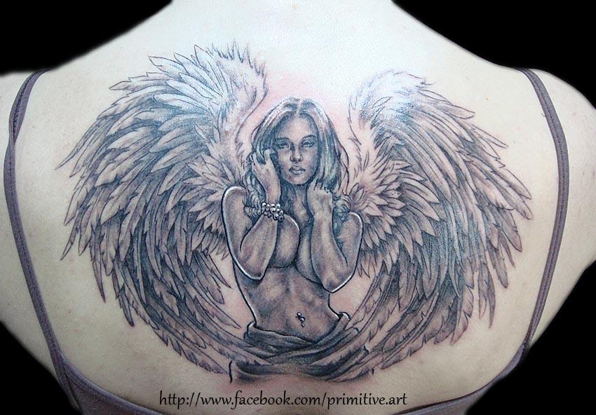0f33d0c888d2b Angel tattoo by primitive-art on DeviantArt