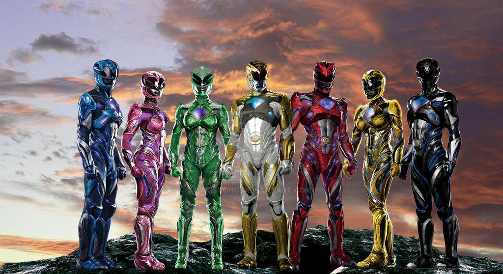 Team Power Rangers 2017 (alternative) by Wushong