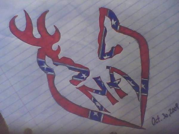 Custom N.A. Browning Heart Rebel Flag by wls187lw on deviantART