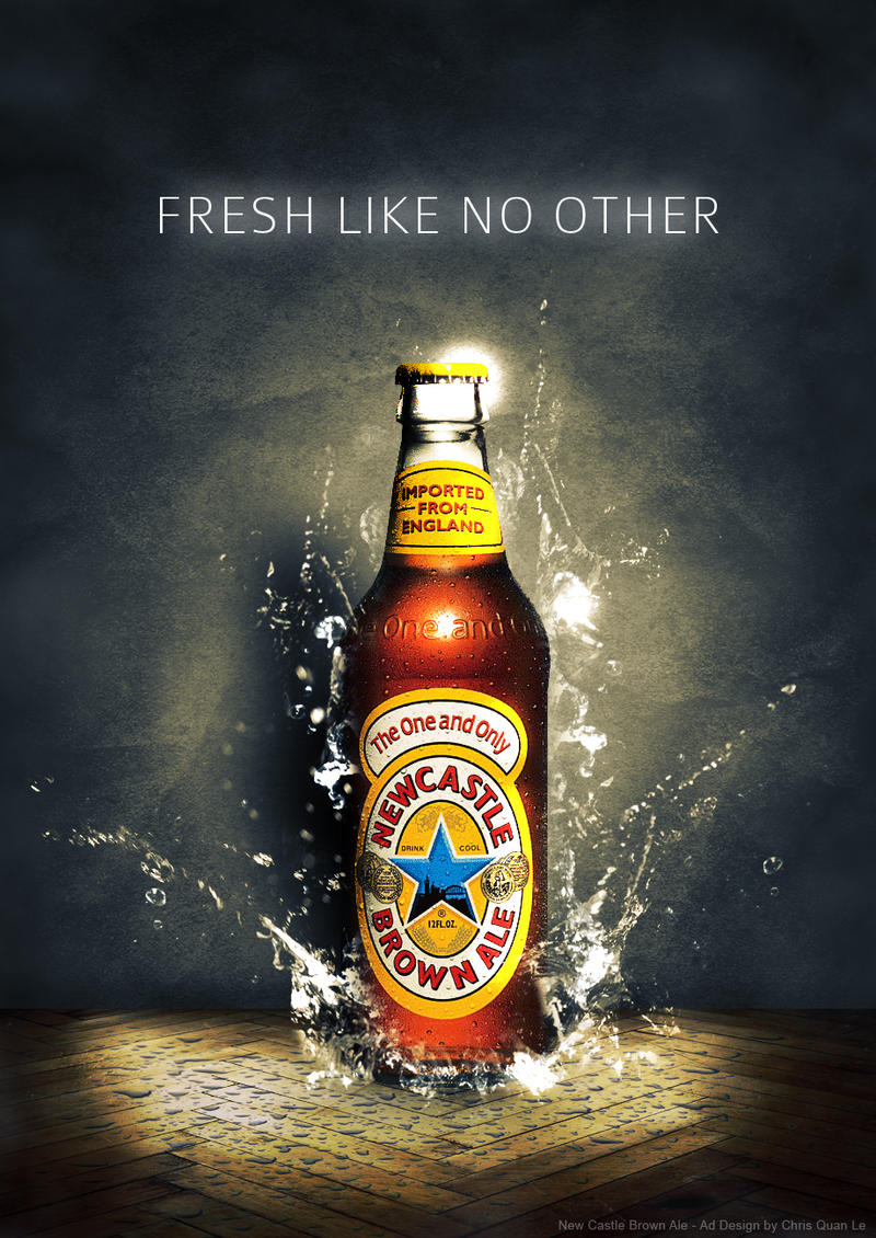 Newcastle Brown Ale Ad by cryptster