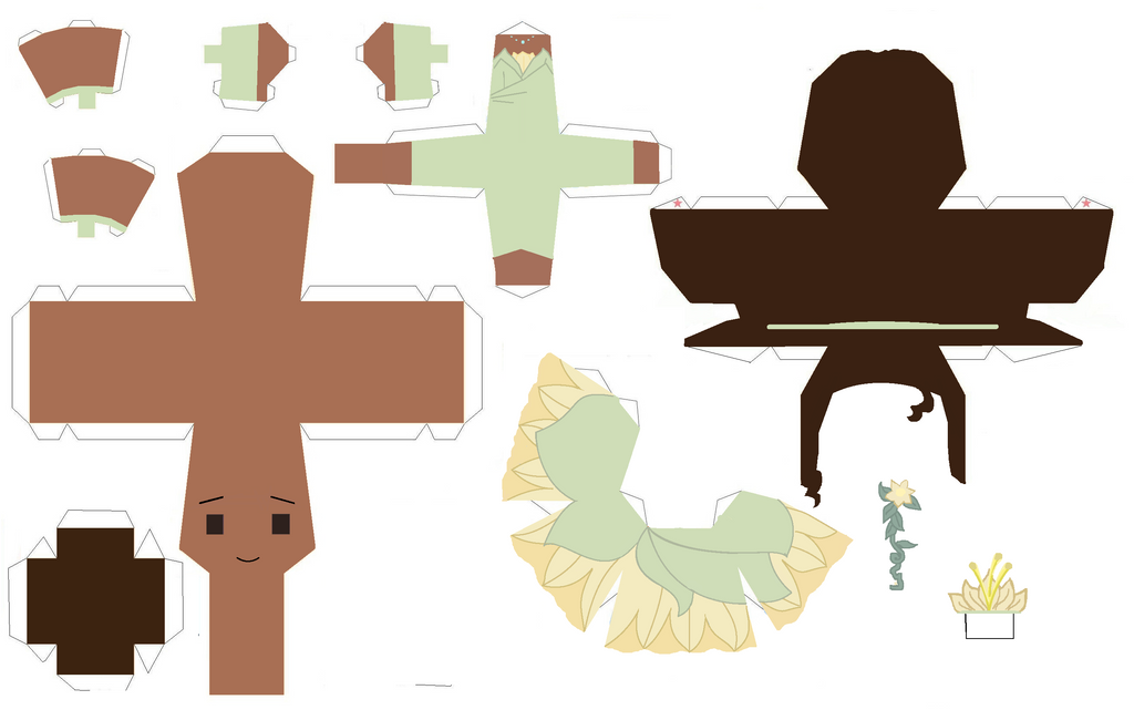 Tiana papercraft by Zenny-Again