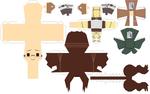 Hanji Zoe papercraft template