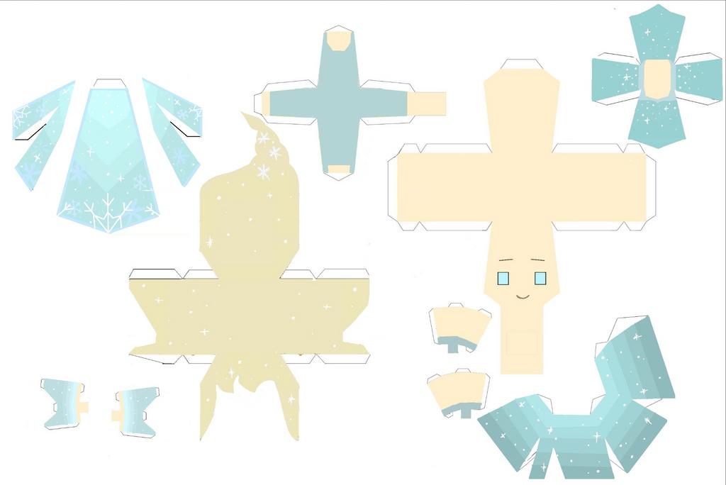 Queen Elsa papercraft by Zenny-Again