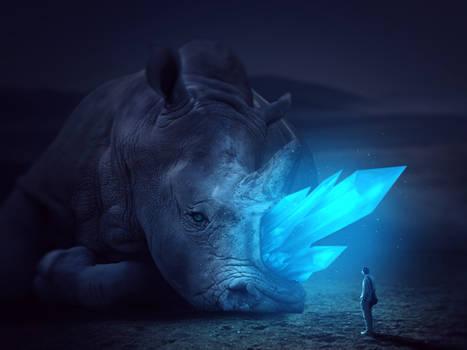 Glowing Rhino
