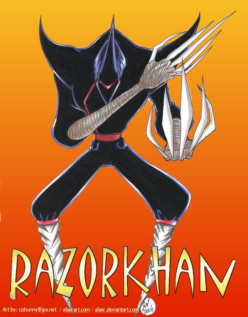ShadowKhan Razor Demon Servant by alaer