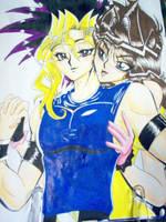 NLL Fic Based Art- Yugi X Anzu by alaer