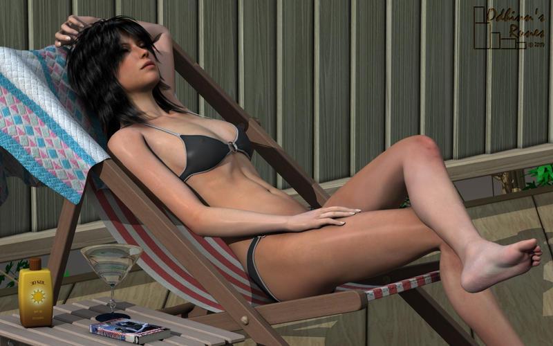 Girl On Deck 2 by odhinnsrunes