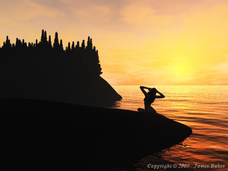 Sunset by odhinnsrunes
