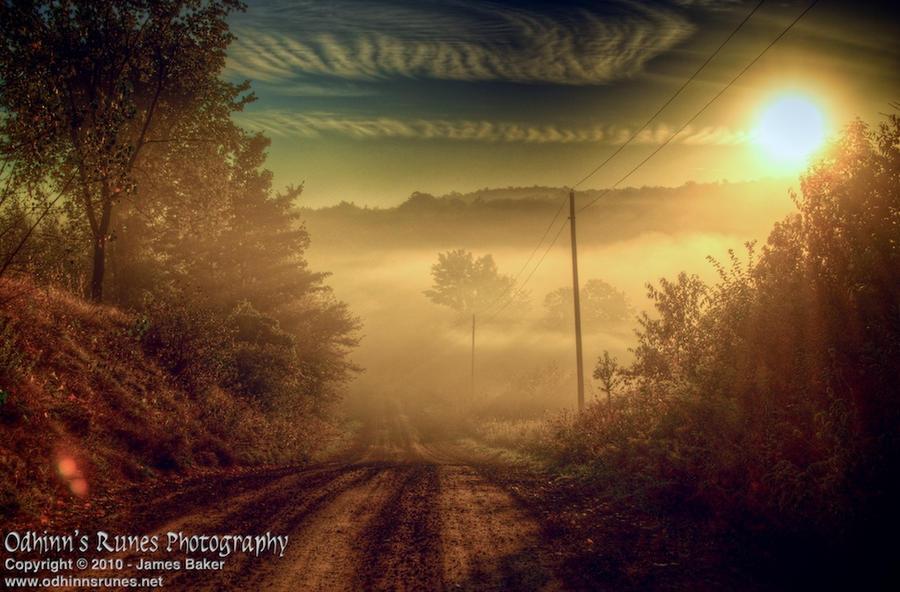 Misty Morning by odhinnsrunes