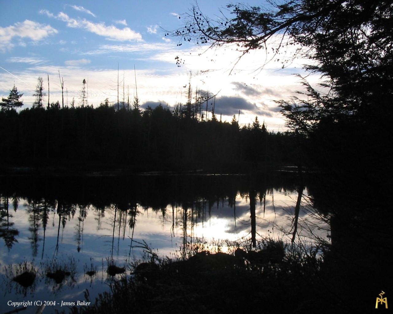 Wilderness Lake 1 - 1280x1024 by odhinnsrunes