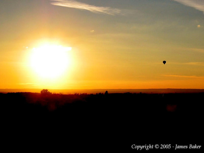 Sunset Balloon Ride by odhinnsrunes