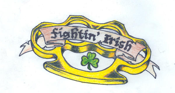 Colored Irish Brass Knuckles by Jared13