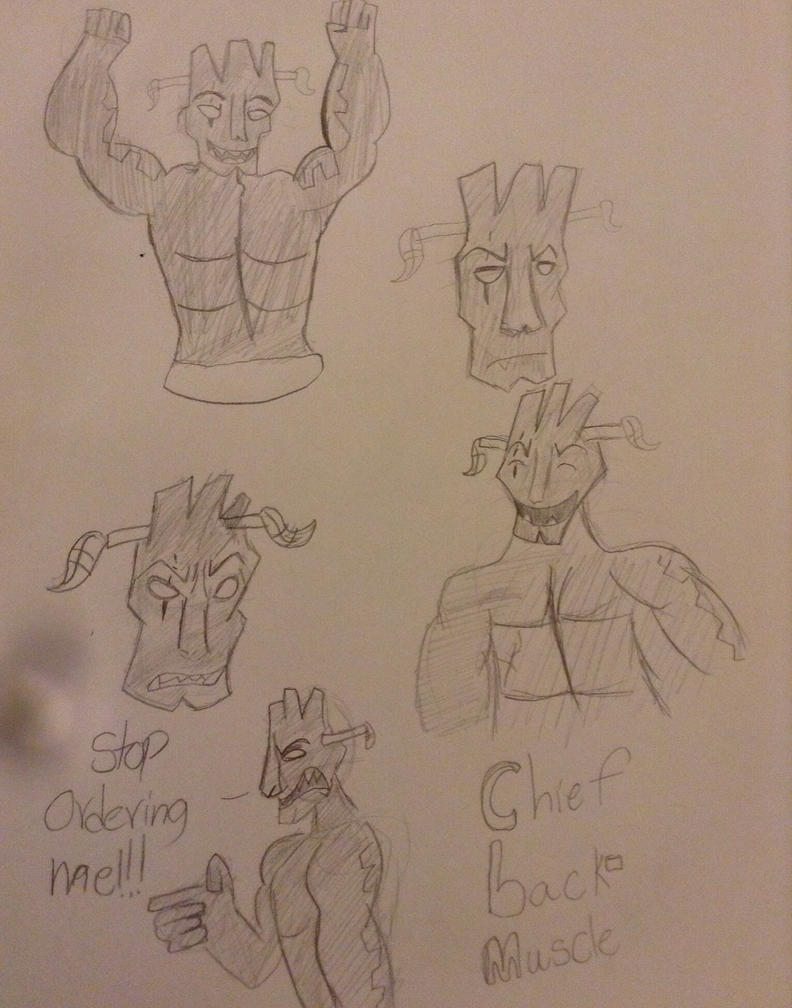 Chief muscle-back doodles by TheDogwhitaTail