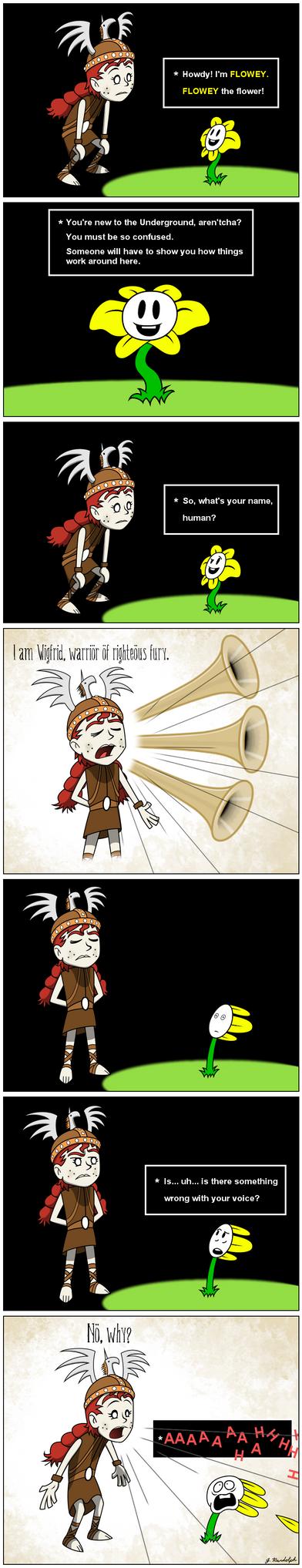 Wigfrid in Undertale - page 1 by Arrog-Ent-Alien
