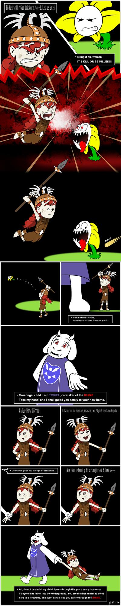 Wigfrid in Undertale - page 4 by Arrog-Ent-Alien