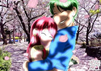 Spring Hug by tiagomanga