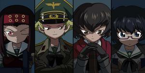 Girls und Panzer Hippo team