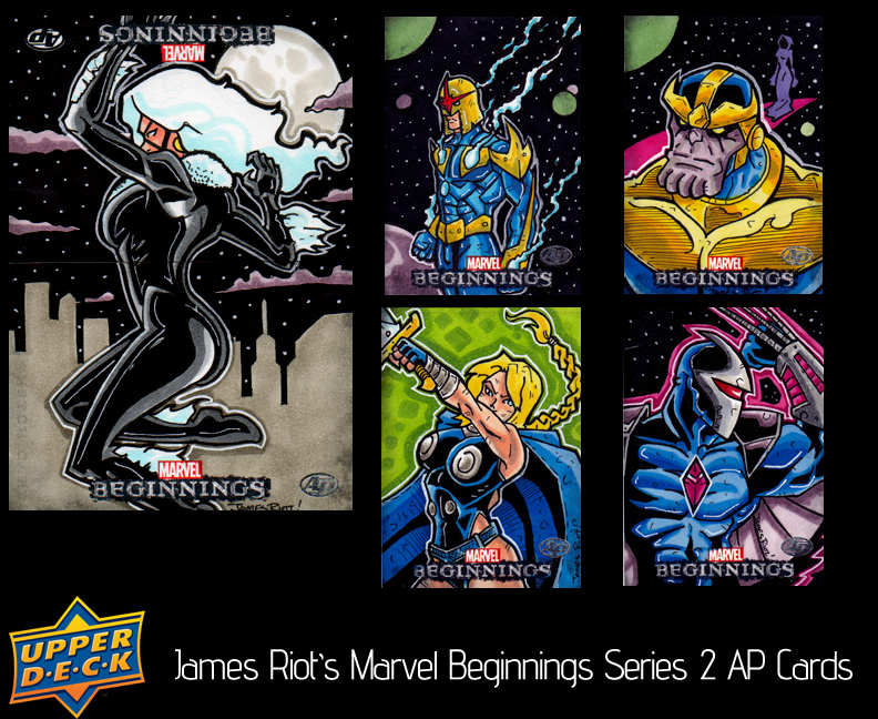 Upper Deck Marvel beginnings 2 AP Sketch Cards by JamesRiot
