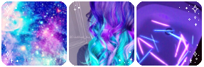 Purple and Blue | Deco Divider by TheCandyCoating