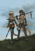 Tren-an and Tai-Ra by ZoeStead