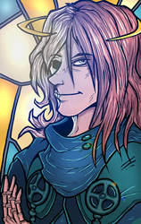 Stained Glass Azriel