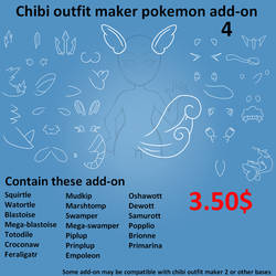 Pokemon Add-ons (Water Starters) by wolvykasu-adopts