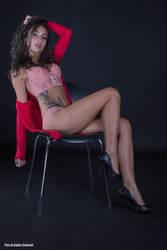 Raja in pink lingerie 02 by Darthsandr