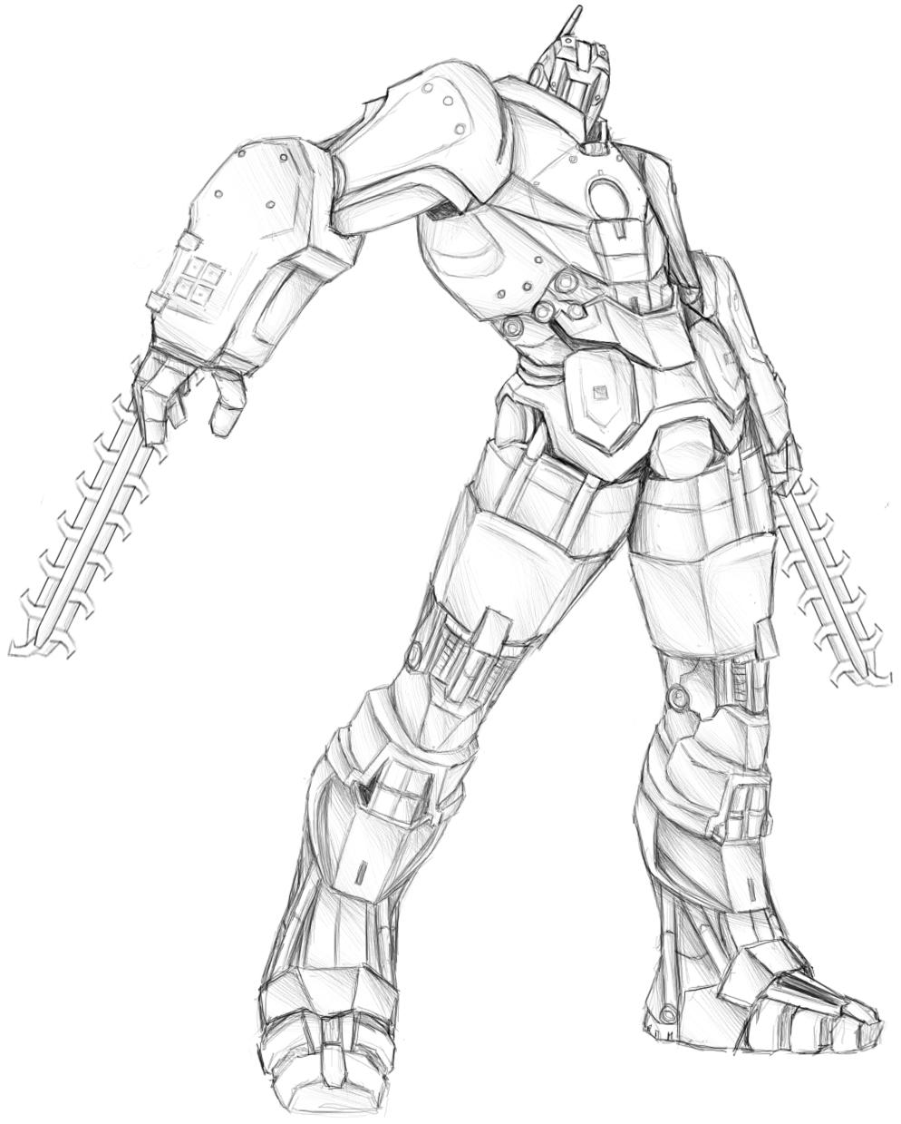 Marine Hammer Drone .:Sketch:. by Sparkleee-Sprinkle