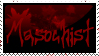 Masochist Stamp by black-roses-falling