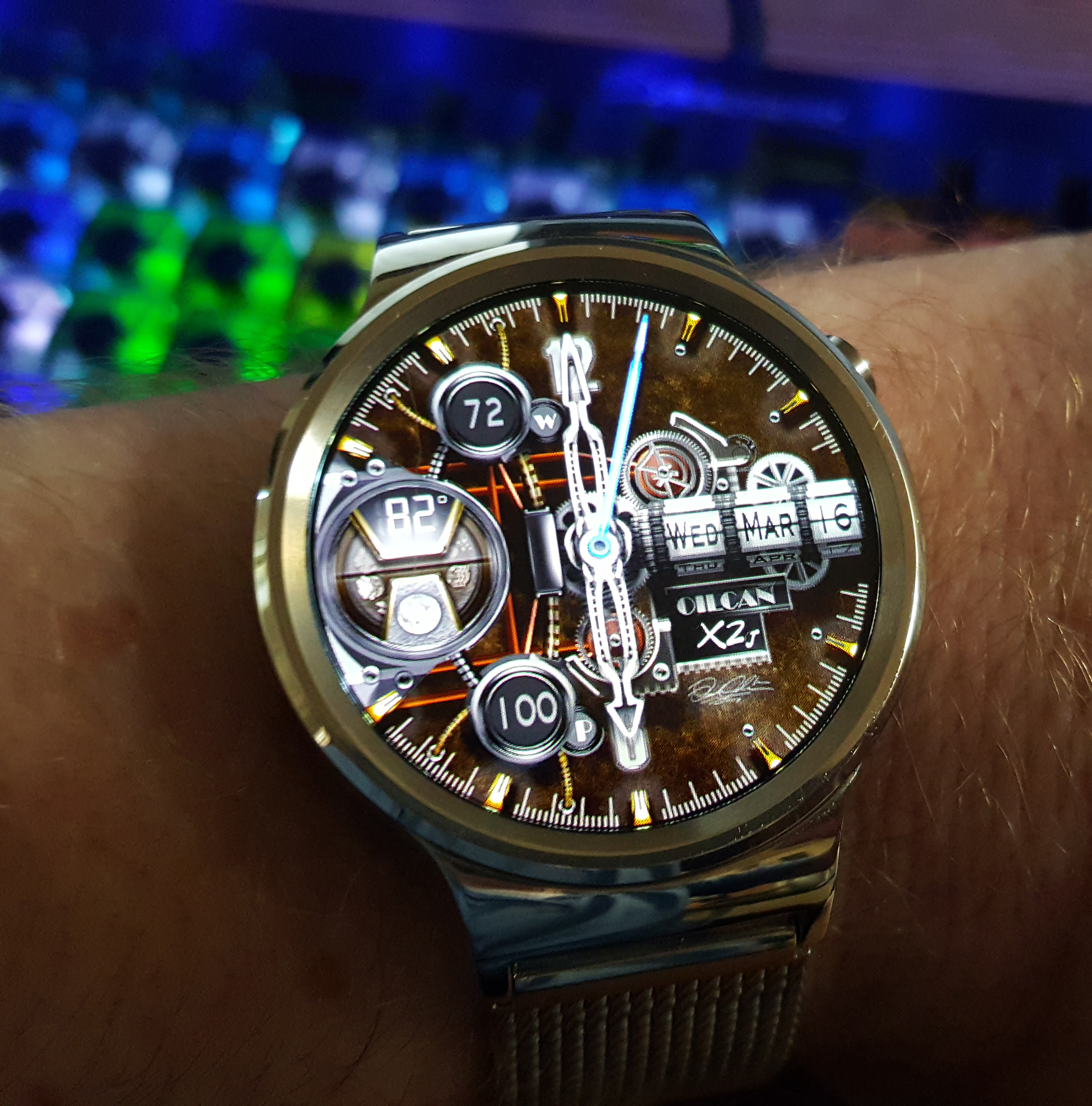 Designer android wear watchface -  Steampunk Watch Face For Android Wear Oilcanx2j By Oilcan1000