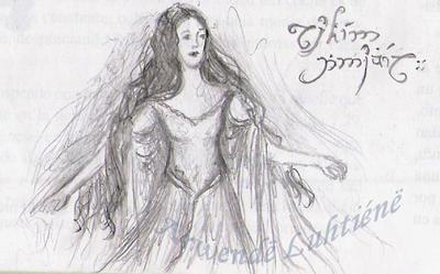 Luthien Tinuviel [sketch] by ArwendeLuhtiene