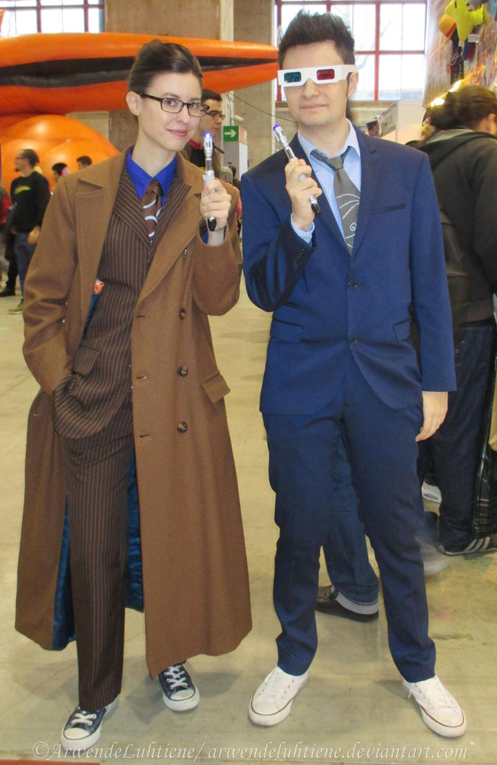 sc 1 st  DeviantArt & Tenth Doctor double trouble at the Expocomic 2015 by ArwendeLuhtiene ...