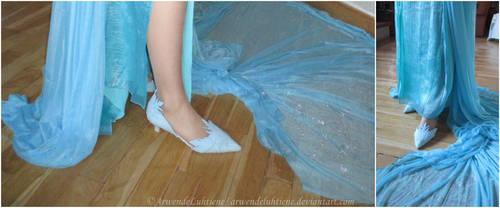 Elsa cosplay - Shoes by ArwendeLuhtiene