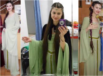 Elven cosplay - Sage green dress by ArwendeLuhtiene
