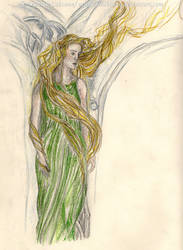 Rivendell Elf woman [Alan Lee study] by ArwendeLuhtiene