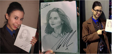 Meeting Jenna Coleman at Heroes Comic Con 2017 - I by ArwendeLuhtiene