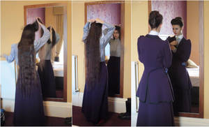 Missy cosplay - Edwardian hairstyling