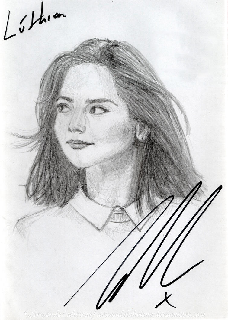 Doctor Who- Clara Oswald (signed by Jenna Coleman) by ArwendeLuhtiene