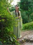 Rivendell Elf cosplay - Sage green dress VII
